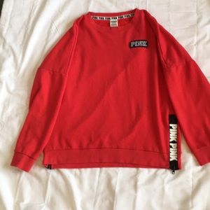 Tops - VS Pink red sweatshirt. Size Large
